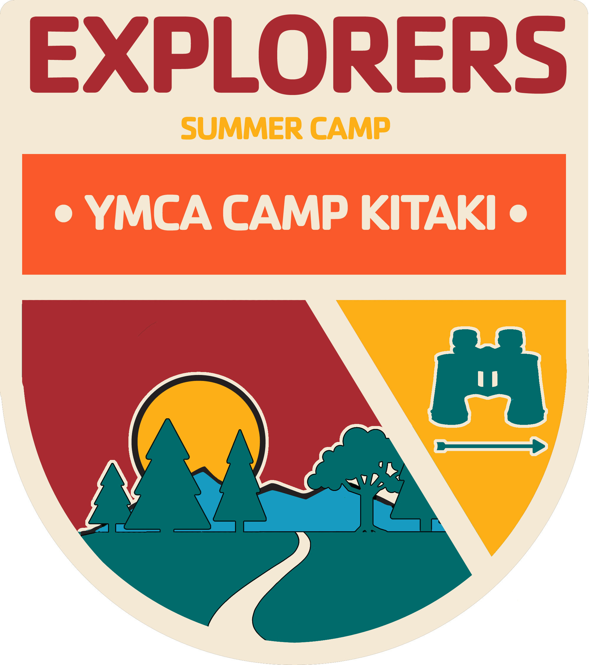 A program badge for the Explorers Camp
