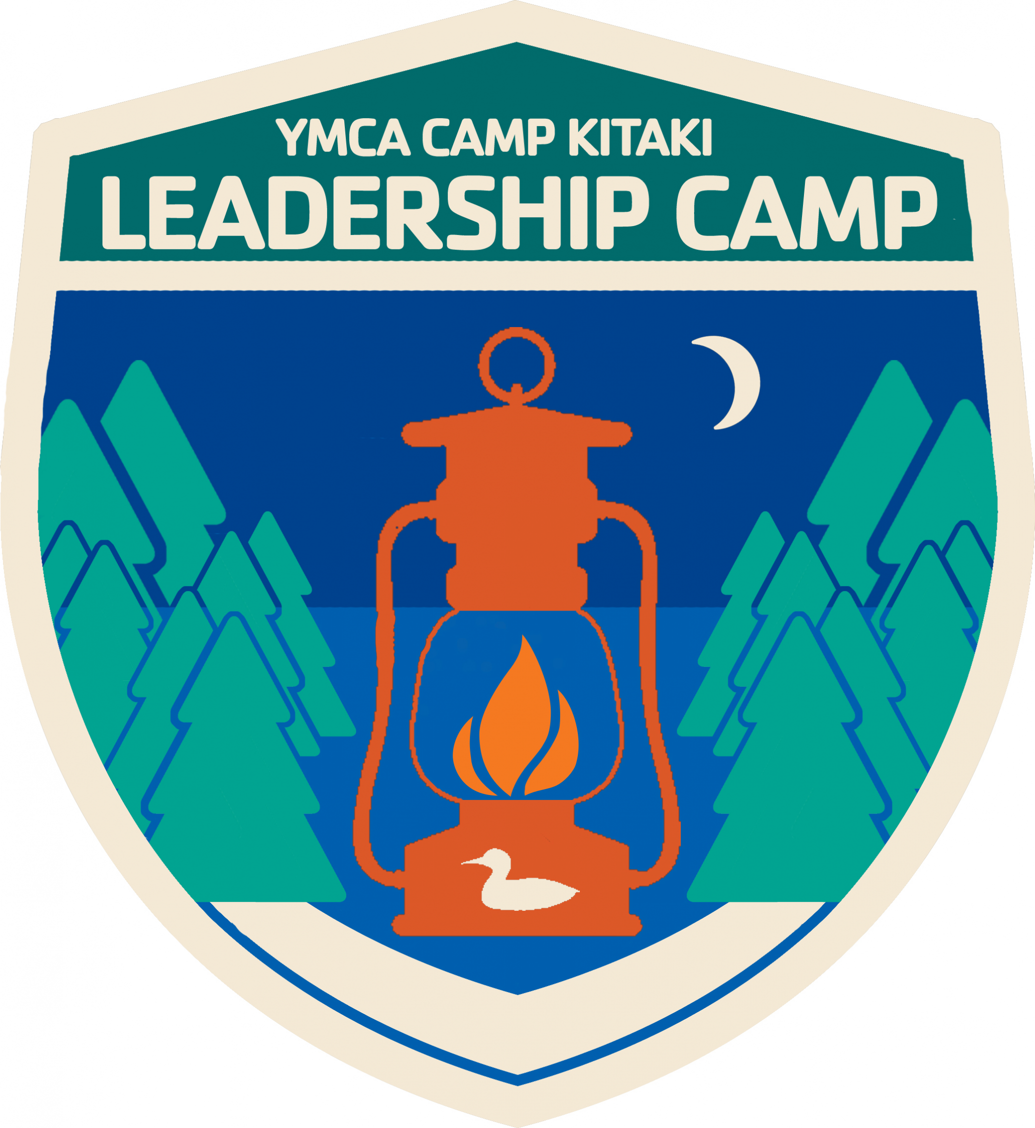 A program badge for Leadership camp