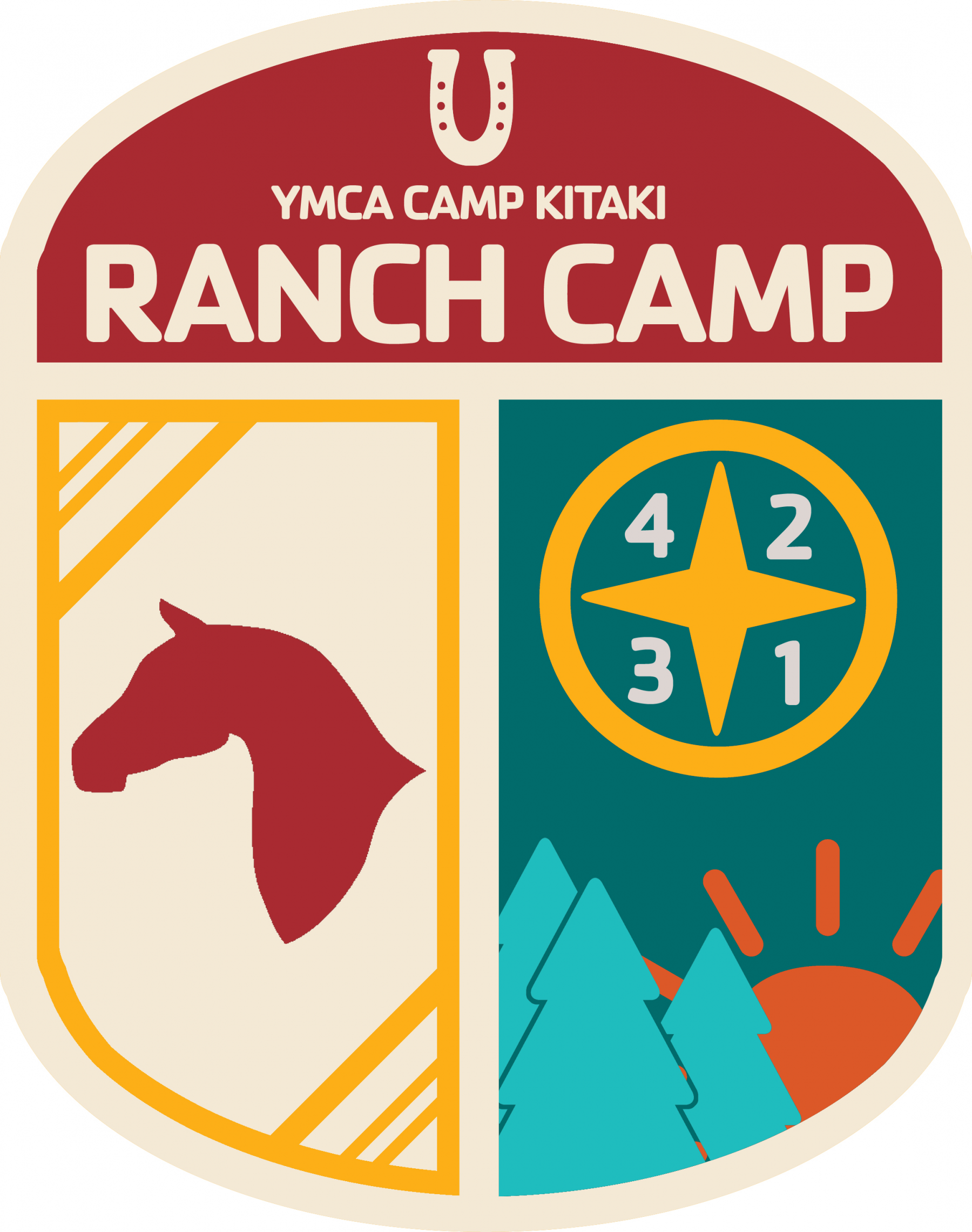 A program badge for Ranch Camp